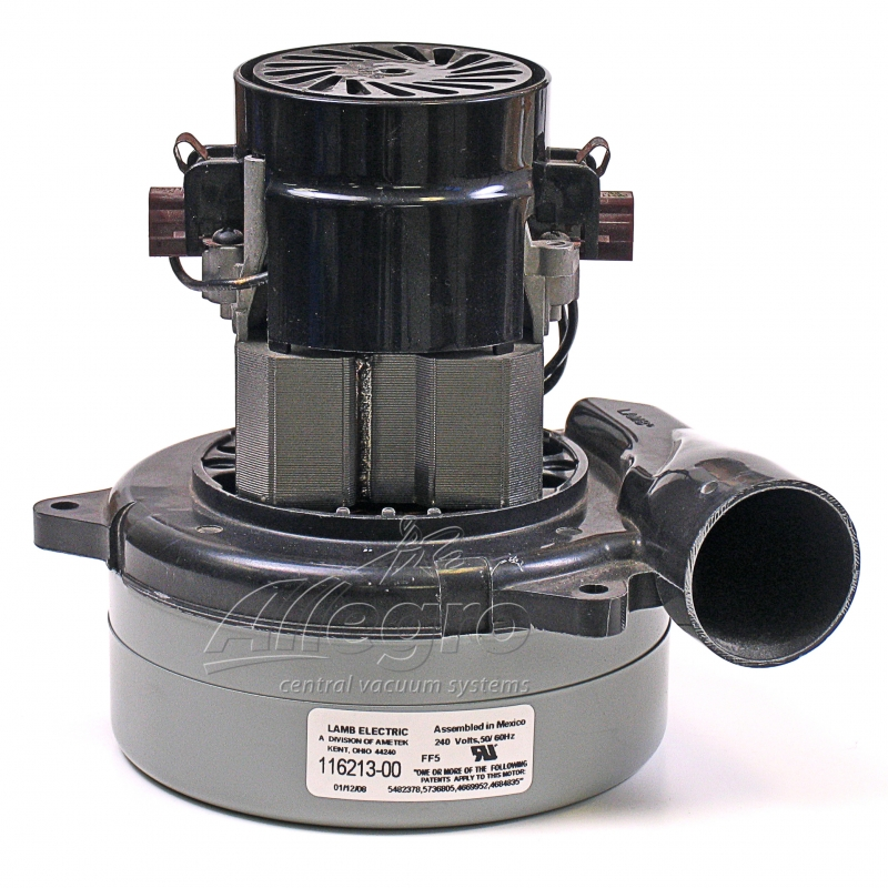 Ametek Lamb Central Vacuum Replacement Blower Electric Motor 116213 00