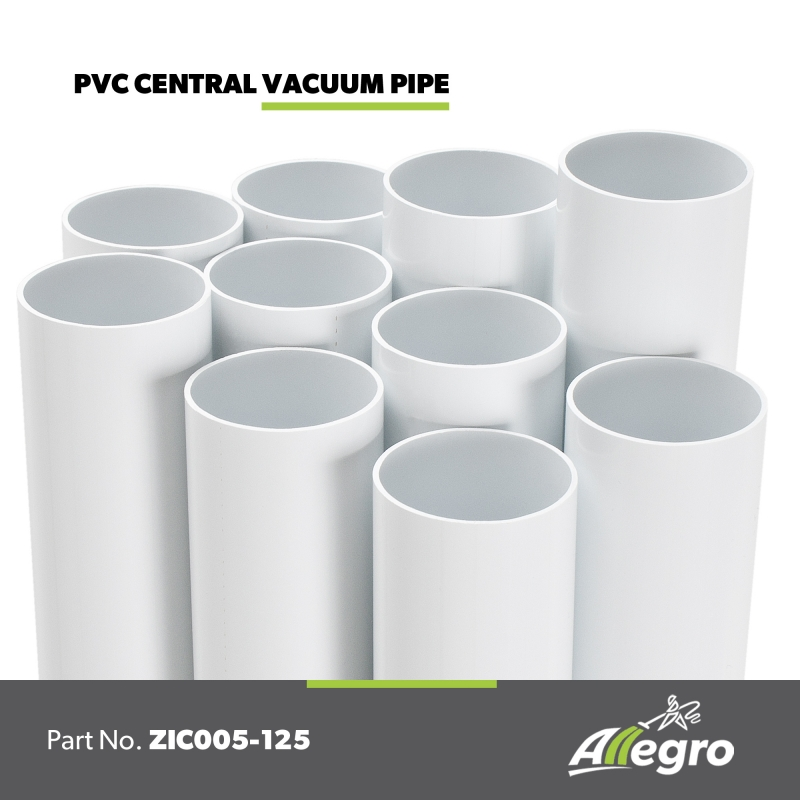 PRODUCT / Central Vacuum Systems PVC Fittings and Pipe / ZIC005-125  sc 1 st  Allegro Central Vacuum Systems & Electrolux 2 inch PVC Central Vacuum Pipe box of 125 foot