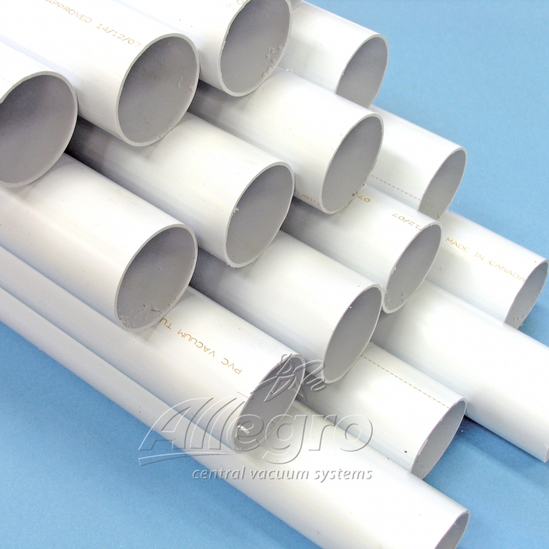 Central vacuum pvc inch white pipe foot lengths