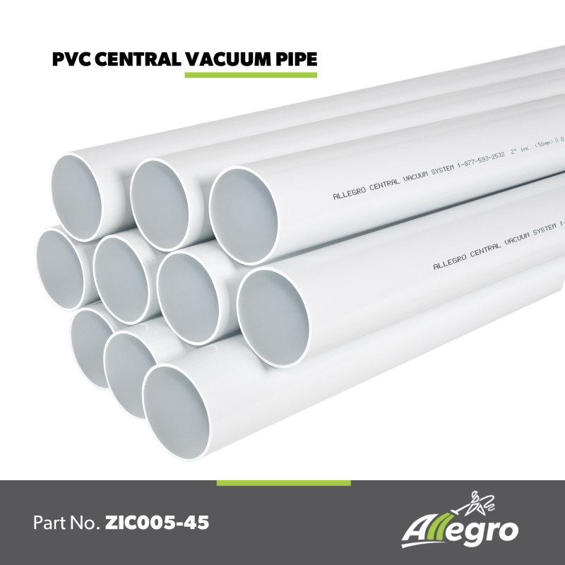 Beam Central Vacuum 2 Inch Standard White Pvc Pipe