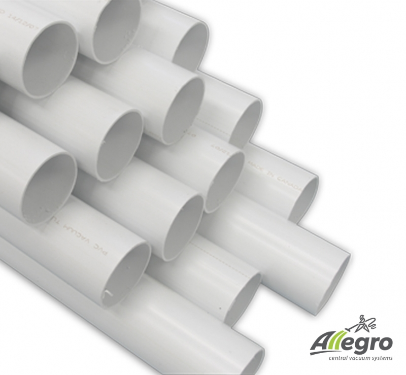 Valet 2 inch pvc central vacuum pipe box of 80 foot for White plastic water pipe