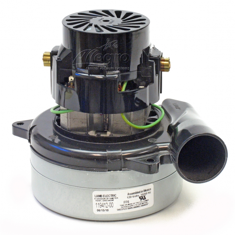 Central Vacuum Replacement Motor 119412 00 Ametek Lamb: vaccum motors