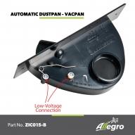 Allegro Central Vacuum Automatic Dustpan Vacpan Black