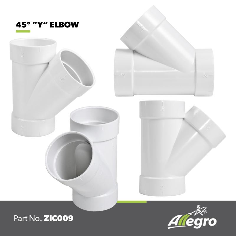 Pvc 120 Degree : Allegro aspirateur central vacuum degree y elbow