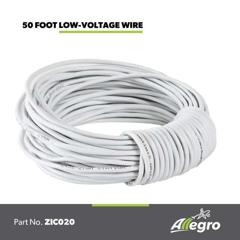 Allegro Central Vacuum low voltage installation wire