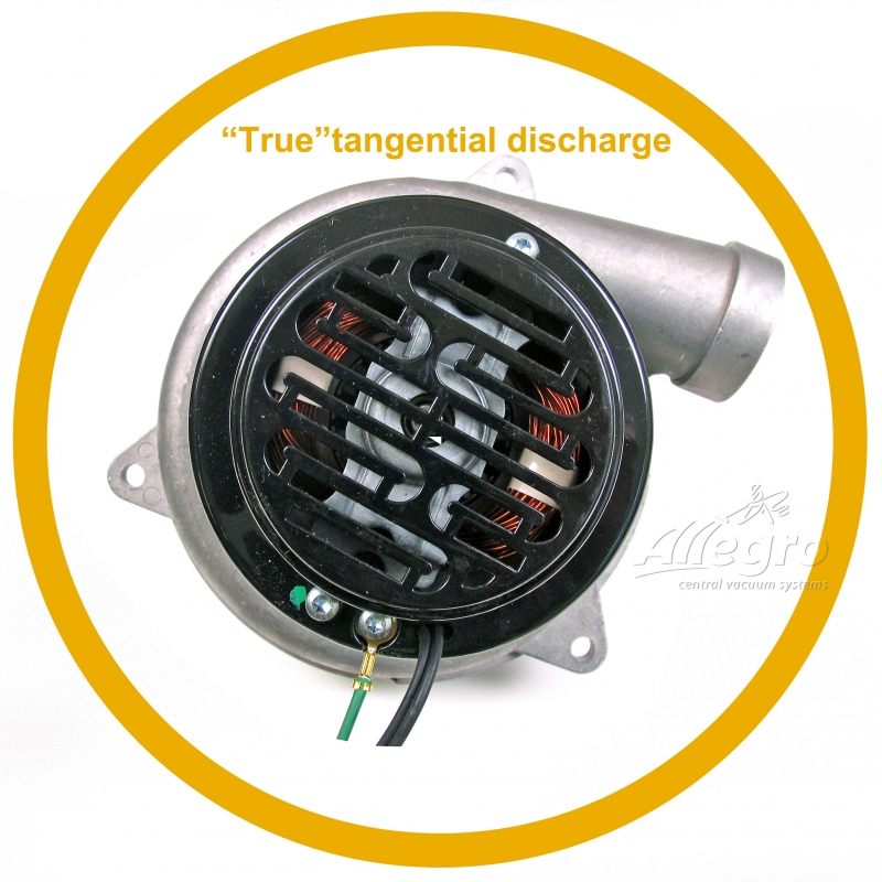 Central vacuum ametek lamb electric replacement motor da for Tangential bypass motor central vacuum