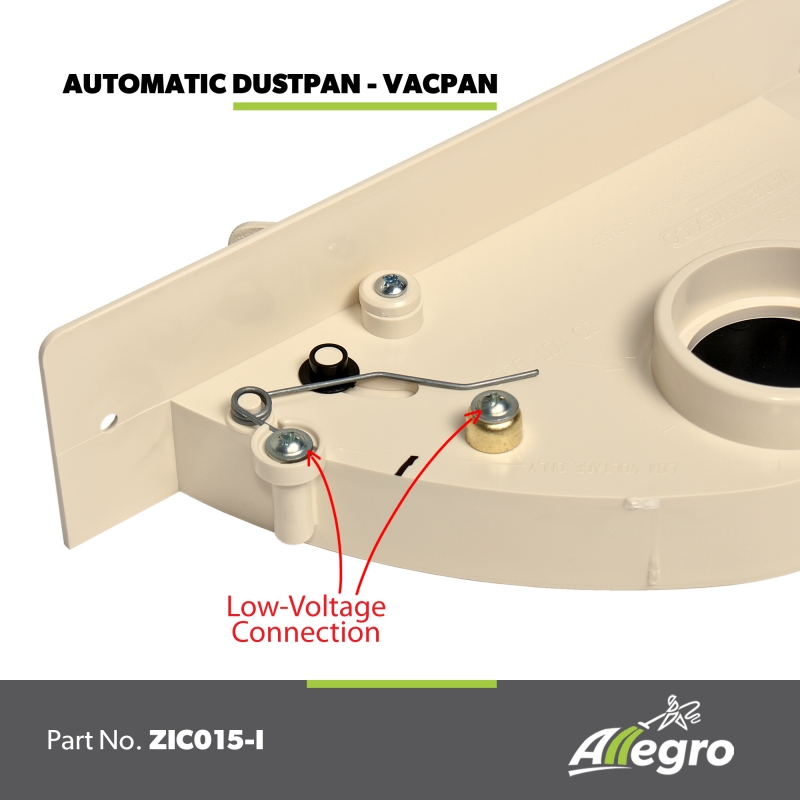 Central Vacuum Easy Flo Almond Automatic Dustpan Vacpan