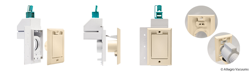 central vacuum electrified inlet valve