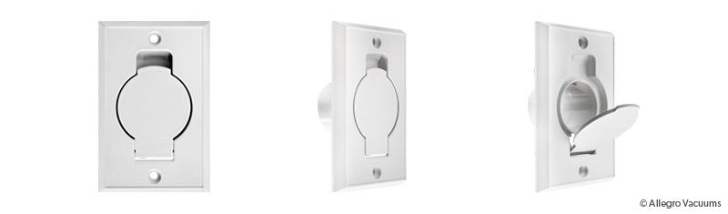 Central Vacuum Standard White Inlet Valve