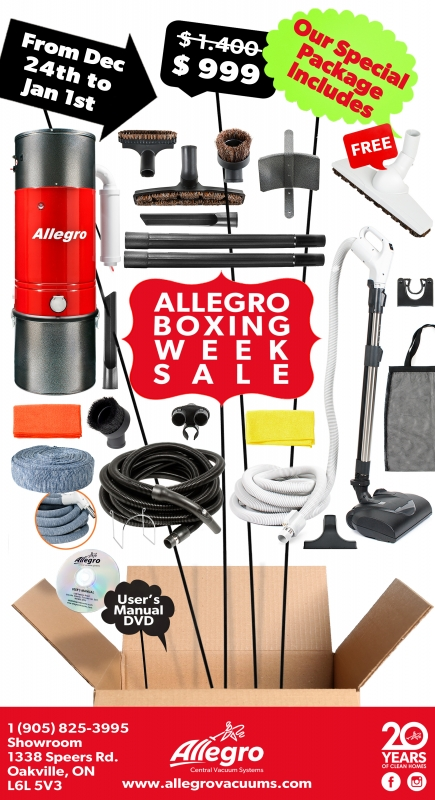 Allegro Central Vacuum 2017 Boxing Week Promotion
