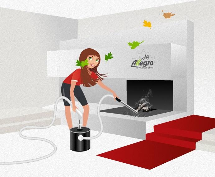 Alli Green using her Allegro Ash Vacuum