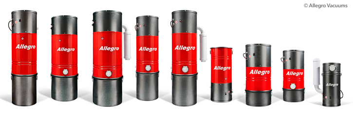 Allegro Central Vacuum Power Unit Line-up